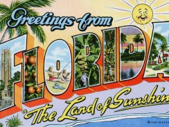 Cartoline dal Mondo. Greetings from Florida, the Land of Sunshine