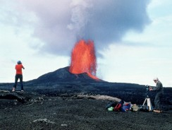 "Kīlauea, alle Hawaii, ""nuvola di fumo che sale"""