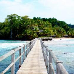 Nell'isola di Principe, il Bom Bom Island Resort